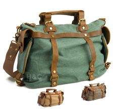 c4a3a916e77 Canvas Mens Satchel Briefcase Cross Body Shoulder 15 In Laptop Messenger Bag  New  Unbranded