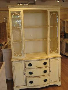 Genial Antique China Cabinet. I Rescued It From A Storage Bin And Painted It  Bright Yellow