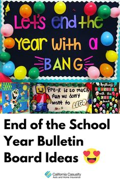 The end of the school year a great time to celebrate your students, their accomplishments and get them looking forward to sweet summertime! And what better way to do that than a fun bulletin board? Check out our favorite end-of-the-year bulletin boards below. Fun Writing Prompts, Cool Writing, News Bulletin, Bulletin Boards, Count Down To Summer, Casualty Insurance, Class Pet, Student Photo, Best Puns