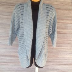 Open front cardigan. Cardigan with see thru lines. Excellent condition. Takeout Sweaters Cardigans