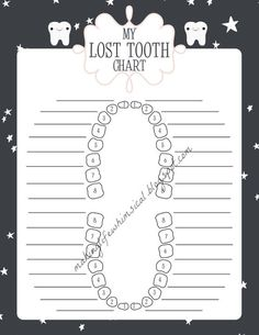 this could be changed into a baby teeth growing chart