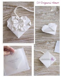 origami hearts - I made these as a bridal shower invitation.  A LOT OF WORK