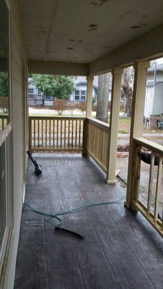 Porch is just about there. Feb 6