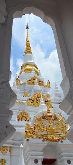 Buddhist temple in Chaiya, Surat Thani, Thailand