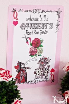 Queen of Hearts  Alice in Wonderland by CutiePuttiPaperie on Etsy, $5.50