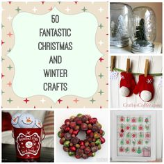 50 Christmas and Winter Craft Ideas #Christmascrafts #roundup