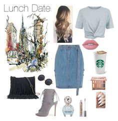 """""""Lunch Date OOTD"""" by epthomp on Polyvore featuring Steve J & Yoni P, Boohoo, SONOMA Goods for Life, T By Alexander Wang, Urban Decay, Marc Jacobs and Lime Crime"""