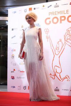 Dana Rogoz in PARLOR dress at GOPO awards. #gopo #romania #parlor #dress #lace #clutch