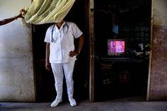 A nurse in an Nicaraguan clinic