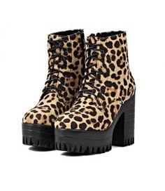 #LeopardPrint #Platform #HighHeelBoots £34.99 @ ShanghaiTrends.co.uk / http://shanghaitrends.co.uk/leopard-print-platform-high-heel-boots