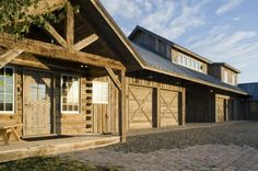 Country windows and large garage in Montana home http://www.onsitemanagement.com/