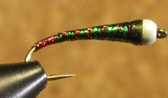 Green Red Butt Chironomid Pupa Fly Pattern