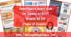 Want to see the exact coupons we are expecting in Sunday's (6/11) SmartSource Insert? Check out the ACTUAL SCANNED INSERT! Browse through all 24 pages and look at the coupons! Click the Picture below to BROWSE all 24 Pages ► http://www.thecouponingcouple.com/smartsource-insert-scan-for-6-11-17/  Visit us at http://www.thecouponingcouple.com for more great posts!