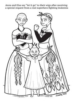 """Mom Creates An Empowering Coloring Book That Features """"Super Strong Princesses"""" Download the pictures for free here! http://limpan.org/downloads/"""