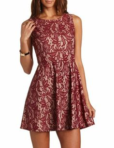 30 Lace Knit Skater Dress: Charlotte Russe