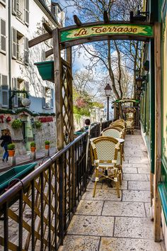 La Terrasse - Montmartre, Paris, France   - Explore the World with Travel Nerd Nici, one Country at a Time. http://www.TravelNerdNici.com