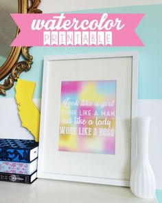 free printable - inspirational watercolor quote - Love Stitched
