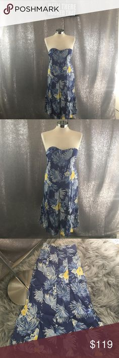 Reformation tropical floral sweetheart dress In excellent condition Reformation Dresses Strapless