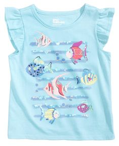 Epic Threads Sequin Fishes T-Shirt, Toddler Girls, Created for Macy's - Sets & Outfits - Kids & Baby - Macy's Teen Girl Outfits, Kids Outfits, Winter Outfits, Printed Shirts, Tee Shirts, Baby Boy Dress, Girl Sleeves, Shirt Print Design, Fishing T Shirts