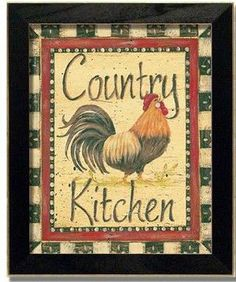 Cool Rooster sign for a Country Kitchen!
