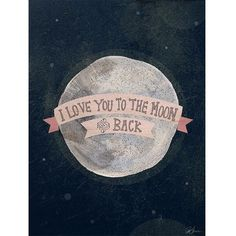 """Universal Lighting and Decor I Love You To The Moon - Pink 24"""" High... ($119) ❤ liked on Polyvore featuring home, home decor, wall art, black, canvas wall art, pink wall art, moon home decor, black wall art i canvas home decor"""