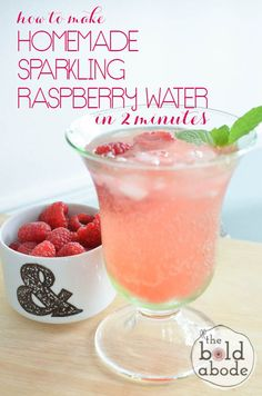 How to make Homemade Sparkling Raspberry Water in 2 minutes! Super simple and it tastes amazing.... a GREAT alternative to soda! Coffee Bad For You, Gourmet Recipes, Healthy Recipes, Simple Recipes, Drink Recipes, Healthier Together, Fruity Cocktails, Red Fruit, How To Make Homemade
