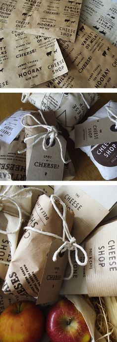branding | 'the cheese shop' + graphics + design + packaging + twine