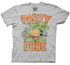 TEENAGE MUTANT NINJA TURTLES PARTY DUDE MENS T-SHIRT $19.95 #T #Shirts #tshirt #t-shirt #men