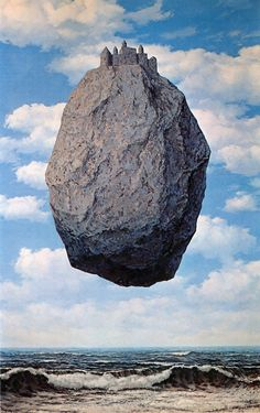 René Magritte: The Castle in the Pyrenees, 1959.