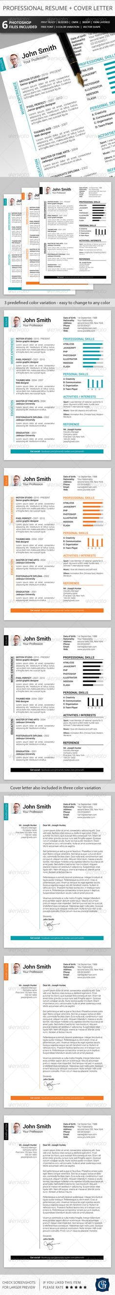 Interests On Resume Amazing Sale Instant Download  Resume Design Template  Microsoft Word .