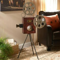 Movie room decor.