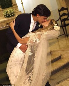 Brazilian style blogger Helena Bordon stunned in the Valentino gown first worn by her mother Donata Meirelles, the style director of Vogue Brazil, for her wedding this weekend