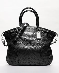 COACH Madison Criss Cross Leather Lindsey
