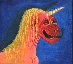 Unicornio Acrílico sobre cartón 11,8 x 10,4 cm 2015