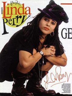 "I still remember the awkward moment at my grandparents house when I first saw the 4 Non blondes video. I was in there living room watching it, and my grandad came in, watched it for a minute, and just looked at me like I was a complete weirdo.. Linda Perry - at ""Daltrey Sings Townshend"" 1995"