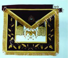 Hand made embroidery work. Freemasonry, Aprons, Embroidery, Handmade, Needlepoint, Hand Made, Apron Designs, Apron, Handarbeit