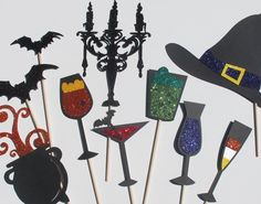 LIMITED READY to SHIP Halloween Photobooth Collection - 11 Ghastly Photo Booth Props perfect for your spooktacular event.