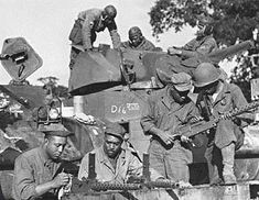 Talking Proud Archives --- Military  /  Tankers of the 761st Tank Battalion - European Theater of Operations, August, 1944. Photo: U.S. Army Military History Institute