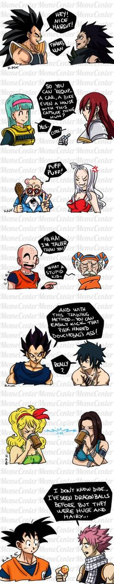 Si les héros de Dragon Ball rencontraient ceux de Fairy Tail ?
