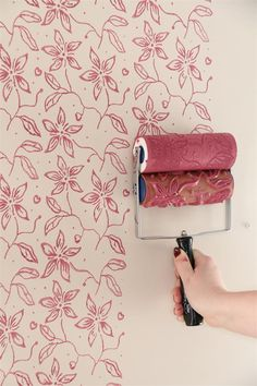 Stencil Roller with Handle, Large Flower
