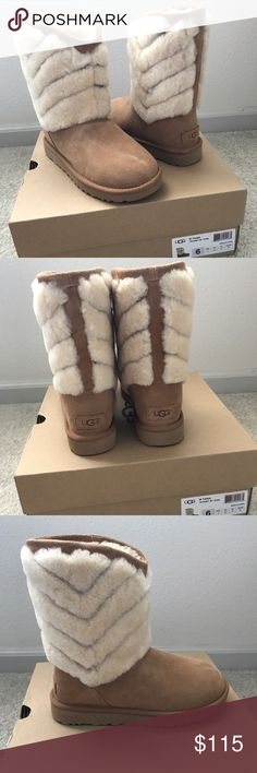 Tania Ugg Boots Chestnut SUMMER SPECIAL!!! Get ready for winter ahead of time! Tania Ugg Boots. Short style with fur detail. New without tags comes with a box. UGG Shoes Ankle Boots & Booties