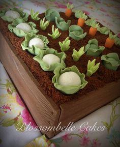 Veggie patch gardening 65th birthday cake by Blossombelle Cakes Eliza Virgona.