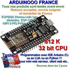 Le câble USB est un câble standard pour téléphone ACHETEZ LE POUR 9€ ici http://www.ebay.fr/itm/OriginalWemos-Lolin-NodeMCU-V3-WiFi-ESP8266-ESP12-E-ARDUINO-9-I-O-dig-1-ana-/201550936595? NODEMCU Une carte complête (open-source)basée sur l' ESP8266, qu'est-ce...