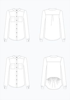 Archer Button Up Shirt by Grainline Studios