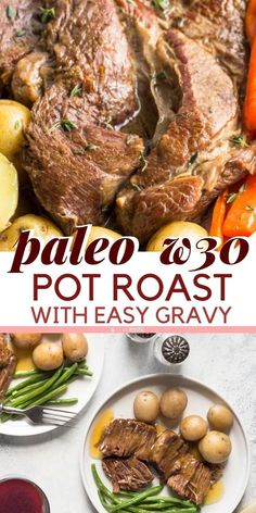 Gluten Free Pot Roast recipe works for Whole 30 Paleo a great clean eating recipe from scratch. Gluten Free Pot Roast recipe works for Whole 30 Paleo a great clean eating recipe from scratch. Gluten Free Pot Roast Recipe, Paleo Recipes Easy, Pot Roast Recipes, Slow Cooker Recipes, Healthy Dinner Recipes, Crockpot Recipes, Whole30 Recipes, Paleo Dinner, Healthy Eating Tips