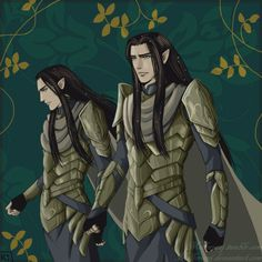 "The Princes of Imladris by MellorianJ.deviantart.com on @deviantART - Elladan and Elrohir from ""Lord of the Rings"""