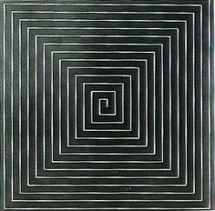 Frank Stella / The Marriage of Reason and Squalor 1959 Post Painterly Abstraction, Abstract Art, Abstract Paintings, Frank Stella Art, York Art Gallery, Illusion, Black And White Painting, New York Art, Art Moderne