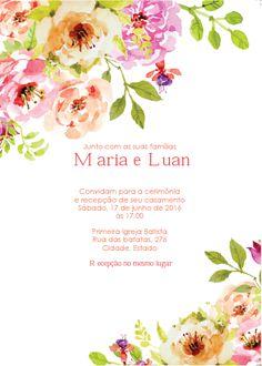 convite casamento DIY disponível para download! perde tempo não: http://www.diariodanoivacriativa.com.br/2016/08/convite-editavel-para-download-convite.html