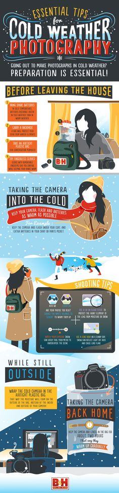 Many of our readers are experiencing winter right now – which presents us as photographers with some wonderful opportunities but also some real challenges. This infographic is designed to help those of you ready to head out into the cold of winter and take great shots. Source: B&H Photo and Video. Check out These Related …