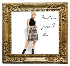 """""""Monki Vera Jacquard Skirt"""" by badwitch-69 on Polyvore featuring Monki"""